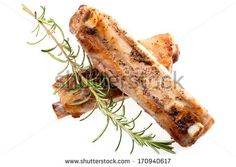 #Roasted #pork #spareribs with #rosemary on #whitebackground.  #autumn / #winter #food #recipe #recipes #cuisine #cooking #culinary #gourmet #idea #ideas #royaltyfree #stockphotos via #Shutterstock