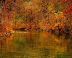 Blanco River in the fall; I live in Blanco Tx; a beautiful little town!