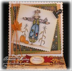 Sweet Stamps - Scarecrow Easel Cards, I Card, Challenges, Fall, Blog, Stamps, Crafting, Thanksgiving, Holidays