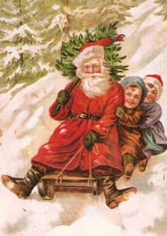 Santa on sled.