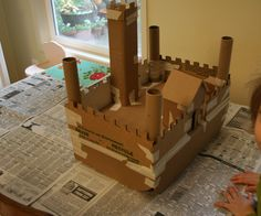 Make a Castle out of recycled cardboard. Learn about the Middle Ages!