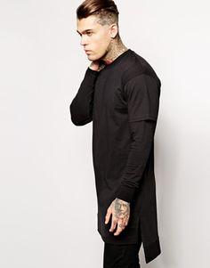 ASOS Longline Sweatshirt With Side Zips | Fashion | Pinterest ...