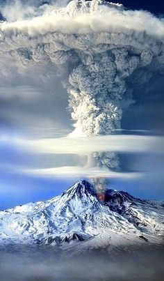 [Mount Ararat Eruption, Turkey] Mount Ararat is a snow-capped and dormant compound volcano in the eastern extremity of Turkey. It consists of two major volcanic cones: Greater Ararat, the highest peak in Turkey and the Armenian plateau