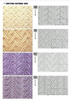 Punto Encaje Patrón            knit lace pattern