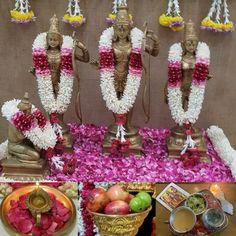 Sri Rama, Puja Room, Table Decorations, Home Decor, Decoration Home, Room Decor, Home Interior Design, Dinner Table Decorations, Home Decoration