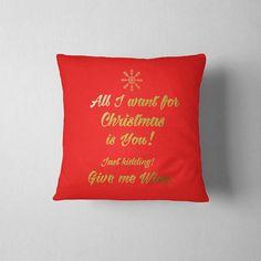 Holiday Pillow Christmas decoration Christmas pillow All I