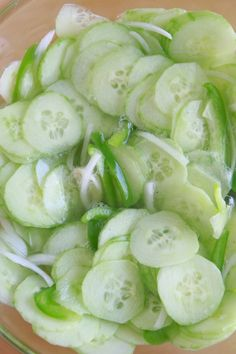 "I can't believe I'm about to give you this recipe: my precious, beloved Grandma's cucumber salad recipe. Technically it's my recipe because my Grandma never wrote this one down for anyone. ""Just make it until it tastes right."" Easier said than done, lady. SO, I tried to make it 'til it tasted right from what°°"