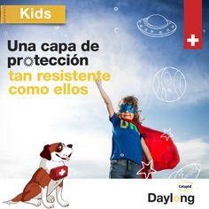 los niños se exponen tres veces más al sol que los adultos, por lo que el factor de fotoprotección debe ser coherente con su edad y horario de actividades. #DaylongKids Movies, Movie Posters, Sun, Schedule, Activities, Films, Film Poster, Cinema, Movie