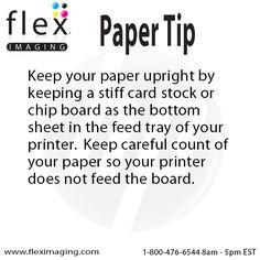 You can keep your paper upright by keeping stiff card stock or a chip board as the bottom sheet in the feed tray.  Just be sure to keep count of your paper so the board does not feed through!  http://www.fleximaging.com