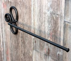 Hand-forged Wrought Iron Towel Bar by AcornHillHandcrafts on Etsy