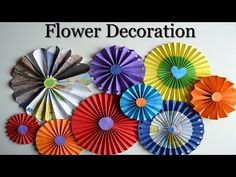 Paper Rosettes - Beautiful flowers - DIY Paper Crafts for teenagers - Room decoration - YouTube