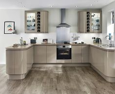 Clerkenwell Gloss Stone Kitchen | Contemporary Kitchens | Howdens Joinery