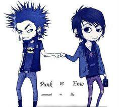 punks and emos unite! Emo Love, Cute Emo, Fan Drawing, Drawing Sketches, Emo Vs Goth, Chibi, Clothing Themes, Punk Boy, Alternative Art