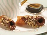 Brandy Snaps with Chocolate and Nuts