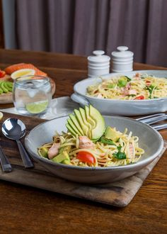 Smoked Trout and Avocado Pasta Recipe | myfoodbook