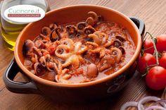 Moscardini in Umido, ottima ricetta con tante varianti, oggi vi presentiamo la classica ricetta originale, a vostro piacimento potete aggiungere olive nere