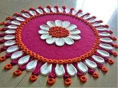 Decorate your home with small rangoli designs at this festive season. Browse the best collections of small and creative rangoli design ideas for Diwali. Rangoli Designs Simple Diwali, Rangoli Simple, Indian Rangoli Designs, Rangoli Designs Latest, Rangoli Designs Flower, Rangoli Border Designs, Small Rangoli Design, Rangoli Patterns, Rangoli Ideas