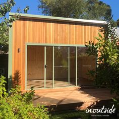 Inoutside | Studio Prefabs and Outdoor Rooms | Australia Outdoor Rooms, Outdoor Decor, Prefab, Garden Design, Australia, Doors, Studio, Home Decor, Decoration Home