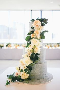 Urban Industrial Cement look Wedding Cake