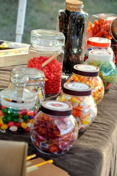 Cowboy party : General Store for guest to take home candy!