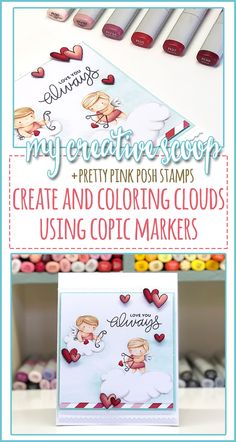 coloring pages - Create and Color Clouds using Copic Markers My Creative Scoop Copic Marker Art, Copic Pens, Copics, Sketch Markers, Zentangle, Colouring Techniques, Shading Techniques, Doodle, Copic Markers Tutorial