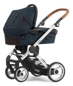Der neue #Mutsy #Evo #Kinderwagen im #Industrial Design. Ein praktischer und wunderschöner Kombi-Kinderwagen im Denim-Leder Look. Erhältlich in den Farben Industrial Blue und Industrial Grey.