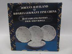 shopgoodwill.com: Johann Haviland Germany SoupBowls BlueGarland NEW