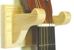 Guitar Hanger Solid Oak Wood Wall Mount