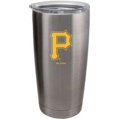 Pittsburgh Pirates Travel Tumbler 20 oz Ultra Flared Silver