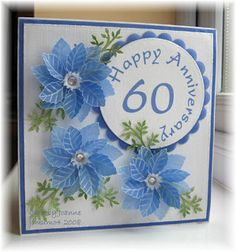 Mainly Flowers Independent Stampin' Up! Demonstrator Joanne Gelnar: 60th Anniversary Card