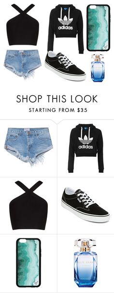 """""""Outfit 98"""" by sarahcb2002 ❤ liked on Polyvore featuring One Teaspoon, Topshop, BCBGMAXAZRIA, Vans and Elie Saab"""