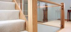 Image result for oak and glass staircase