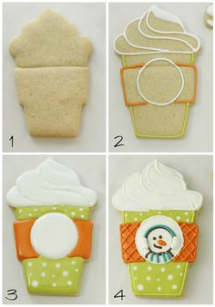 Coffee Cup cookies and Gift Card Cookie Toppers | Klickitat Street