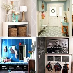 21 amazing DIY before after entryway makeovers! These dramatic transformations will inspire you to create a beautiful, functional and welcoming entryway! - A Piece Of Rainbow Tips And Tricks, Raised Garden Beds, Raised Beds, Transfer Images To Wood, Distressed Wood Furniture, Ikea, Palette, Whitewash Wood, Diy Greenhouse