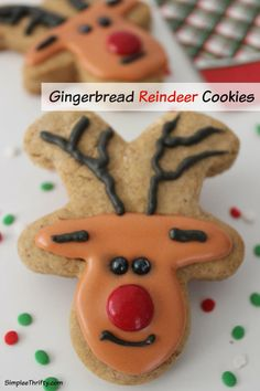 Gingerbread Reindeer Cookies: How about some Gingerbread Reindeer Cookies! Yes, these are upside down gingerbread cookies. These are very simple to make. Make these up for you family this Holiday Season! You can make this easy treat too!