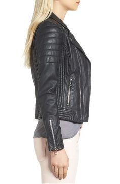 Main Image - Goosecraft Dual Zip Leather Biker Jacket