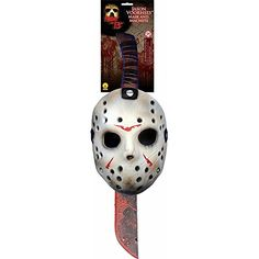 Jason Voorhees Halloween Mask and Machette Set. Theme Halloween, Halloween Items, Adult Halloween, Halloween Masks, Halloween Outfits, Halloween Costumes For Kids, Adult Costumes, Halloween Clothes, Boy Costumes