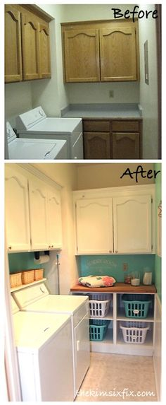 Laundry Room Before And After (Flashback Friday)