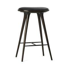 Mater High Stool Barstol 74cm Dark stained beech
