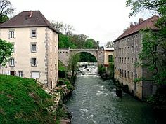 Champagnole, France. Ain, Champagnole, Pont Neuf, moulin