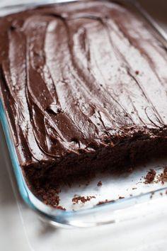 Rich, Moist, Decadent Chocolate Sheet Cake