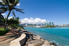 A view of Kewalo Basin from Kaka'ako Waterfront Park.  Honolulu, Hawaii.
