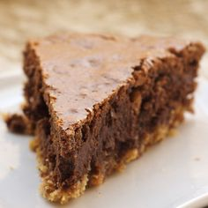 Dress up your brownies with this beautiful and delicious Hazelnut Brownie Tart. - Bake or Break