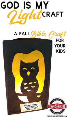 God is My Light Craft | A Fall Bible Craft for Your Kids Looking for a Bible verse craft for your kids this fall? Check out this fun God is My Light craft with a verse that declares God is my light! Bible Verse Crafts, Bible Crafts For Kids, School Days, Sunday School, Middle School, Homeschool Kindergarten, Homeschool Curriculum, Learning Activities, Activities For Kids