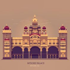 Final version #historic #palace #mysore #illustration #design #vintage #graphicdesign #travel #travelindia #india
