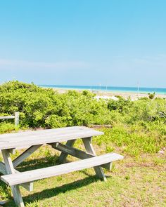 Pack a bagged lunch and head to Henderson State Park for the perfect beachfront picnic view. Henderson State, Emerald Blue, Fort Walton Beach, Gulf Of Mexico, White Sand Beach, Beach Hotels, Florida Beaches, Sun Lounger, State Parks