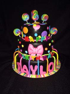 Glow in the dark birthday cake  Made by TanniCakes on FB