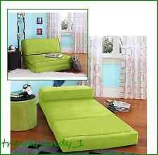 Fold Down FLIP Chair Out Lounger Convertible Sleeper Bed Couch Game Dorm Guest