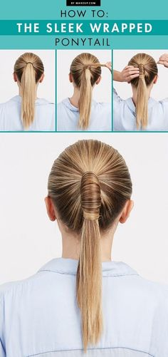 Sleek Wrapped Ponytail