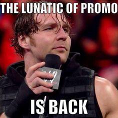Dean ambrose - the lunatic of promo #DeanAmbrose #WWE #BelieveInAmbrose #LunaticFringe pic.twitter.com/STxtnwQsFZ